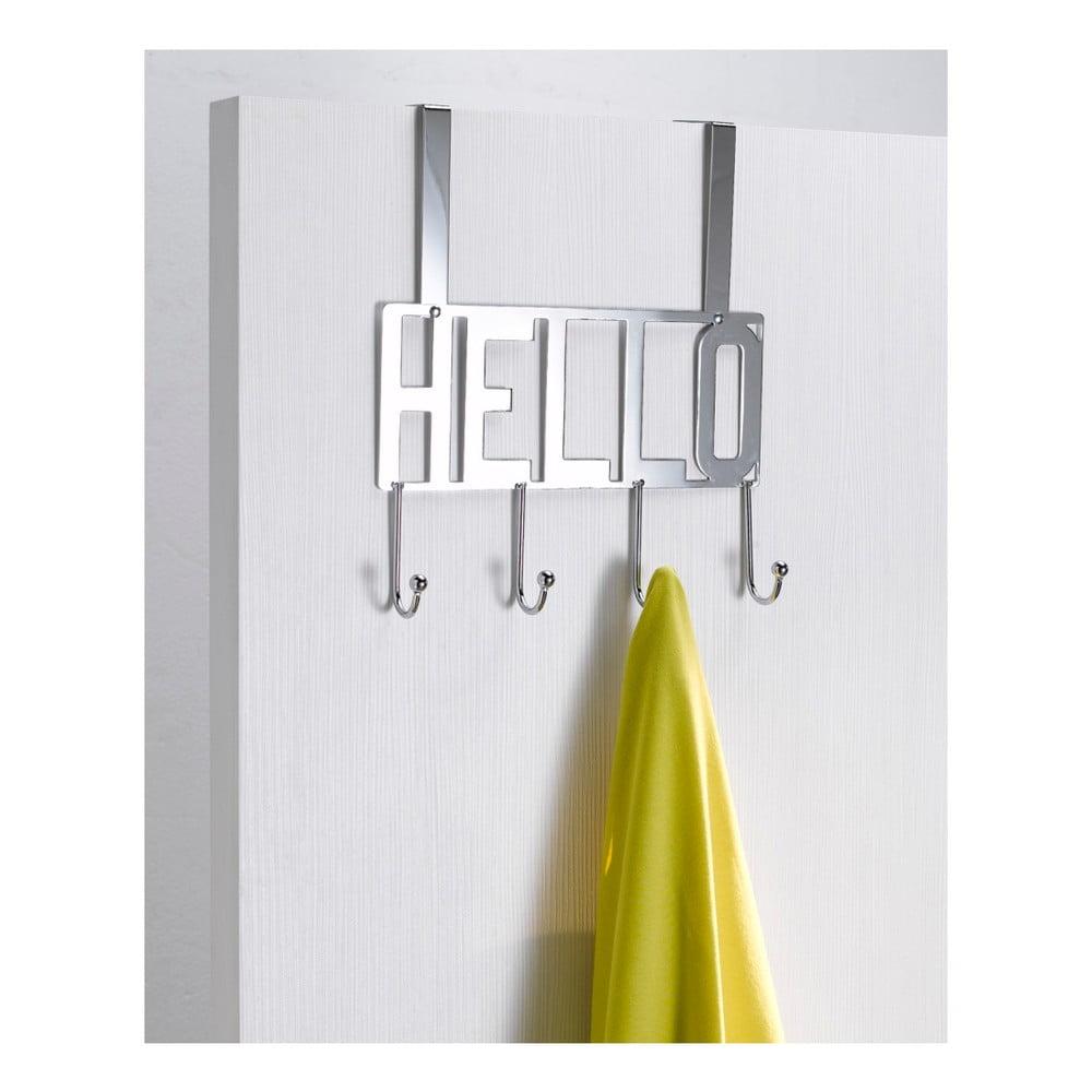 Věšák na dveře s 4 háčky Compactor Hello