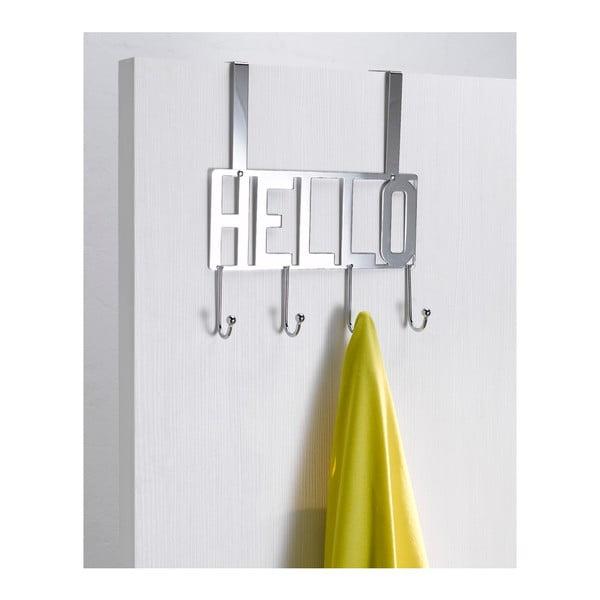 Wieszak na drzwi z 4 haczykami Compactor Hello