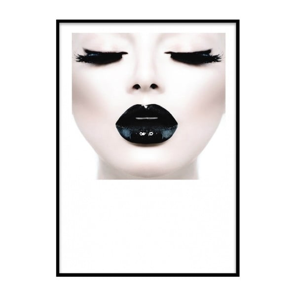 Poster cu ramă Piacenza Art Black Lady Head, 30 x 20 cm