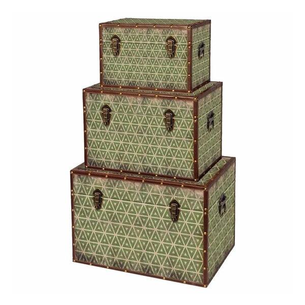Sada 3 úložných boxů Rajhastan