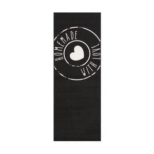 Černý běhoun Zala Living Homemade, 67 x 180 cm