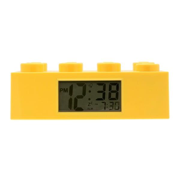Żółty zegar z budzikiem LEGO® Brick