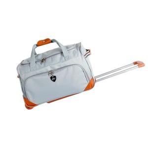 Světle šedá cestovní taška na kolečkách GENTLEMAN FARMER Sporty, 88 l