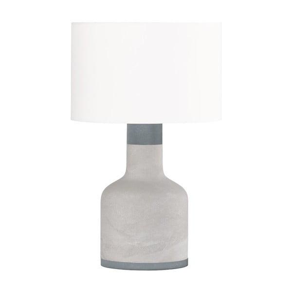 Šedá stolní lampa Trio Rodney, výška 51 cm