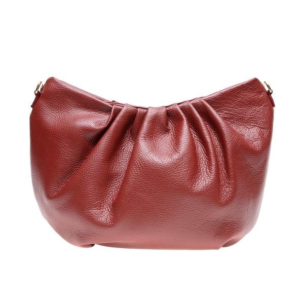 Červená kožená taška přes rameno Carla Ferreri