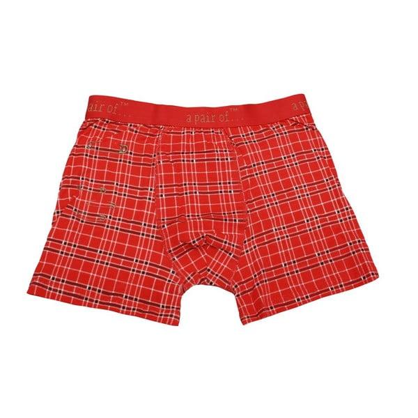 Pánské boxerky Punk Red, velikost M