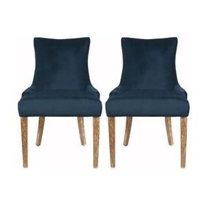 Sada 2 židlí Lester Dark Blue