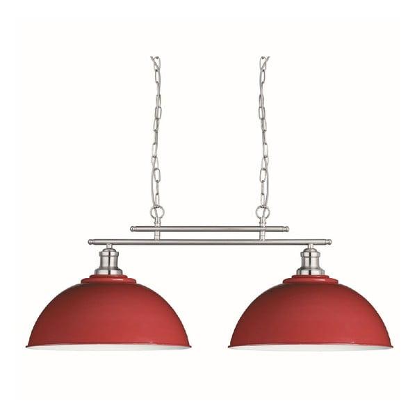 Stropní světlo Duo Silver/Red