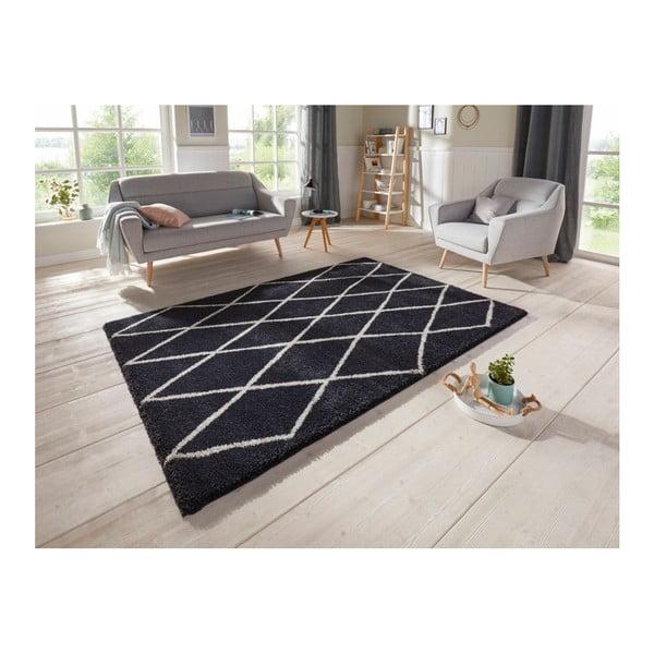 Antracitový koberec Elle Decor Passion Abbeville, 80 x 150 cm