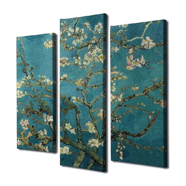 3 részes vászon fali kép Vincent Van Gogh Almond Blossom másolat