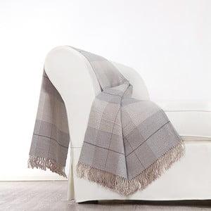 Šedá deka z merino vlny Lanerossi Murano, 130x180cm
