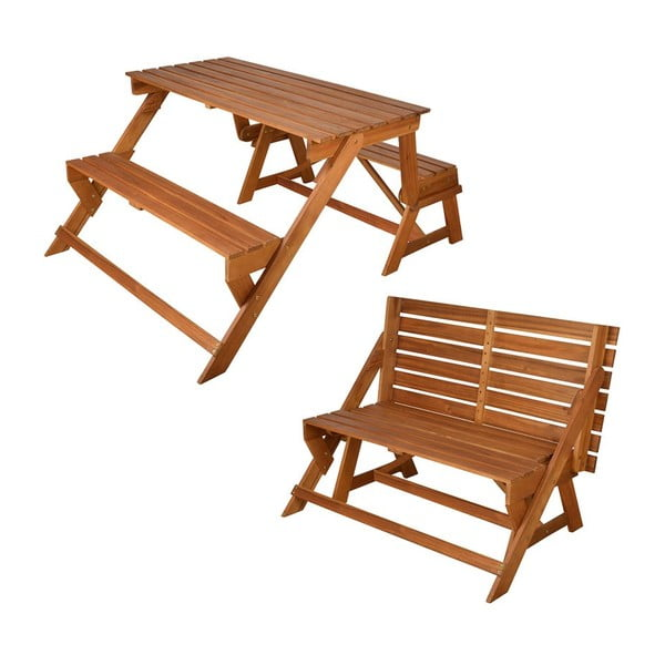 Skládací piknikový stůl s lavicemi Chat