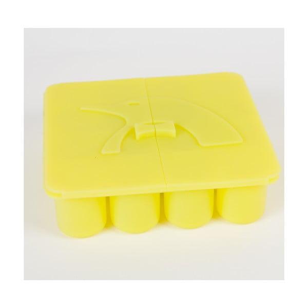 Silikonové tvořítko na led ve tvaru nábojů, žlutá