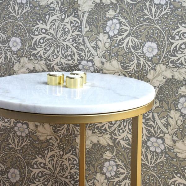 Odkládací stolek RGE Brass Marble, 85 cm
