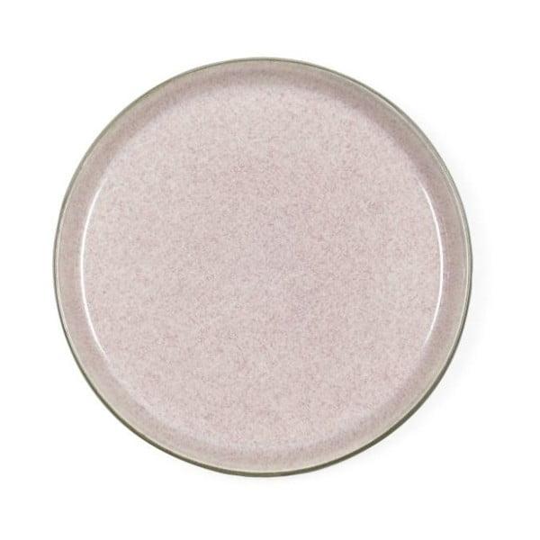 Pudrově růžový kameninový dezertní talíř Bitz Mensa, průměr 21 cm