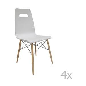 Set 2 scaune Esidra Ricardo, alb