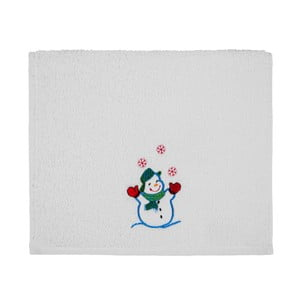 Osuška Christmas White Snowman, 30 x 50 cm