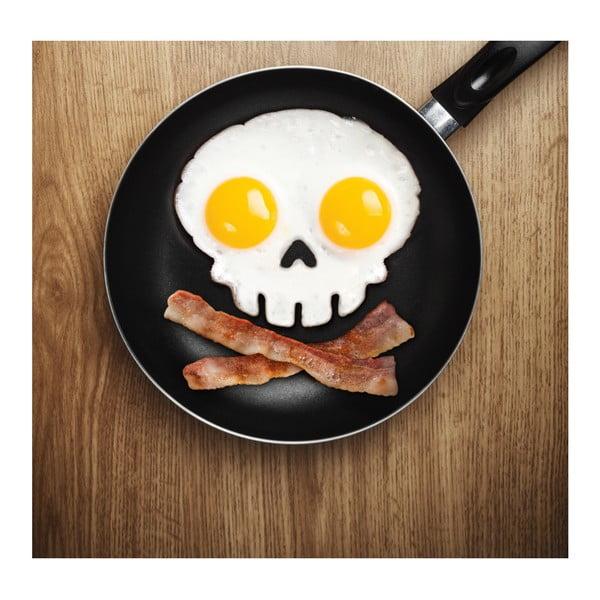 Černá forma na vajíčka ve tvaru lebky Fred Funny Side Up