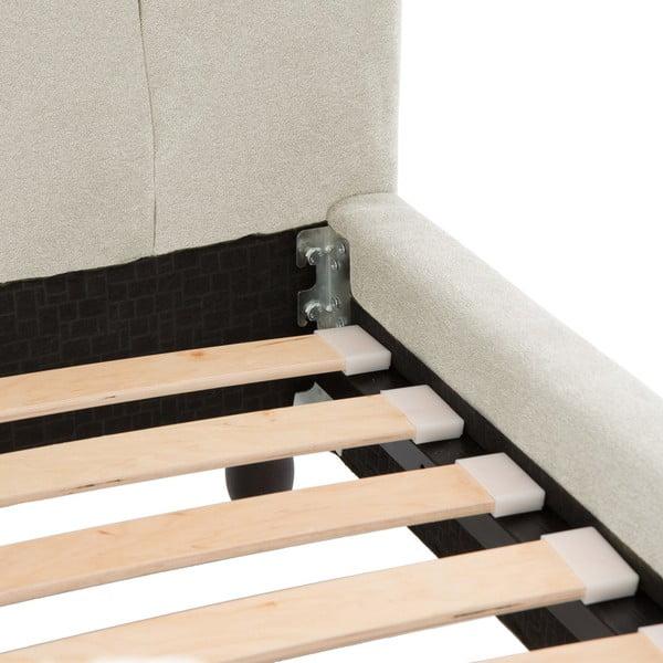 Krémová postel s černými nohami Vivonita Allon,160x200cm