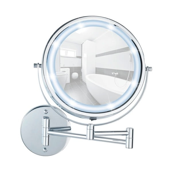 Oglindă cosmetică de perete cu LED Wenko Lumi