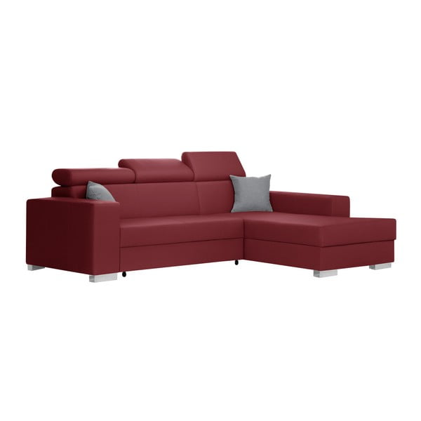 Červená rozkládací sedačka Interieur De Famille Paris Tresor, pravý roh