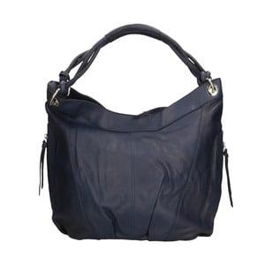 Tmavě modrá kožená kabelka Roberto Buono Saranka
