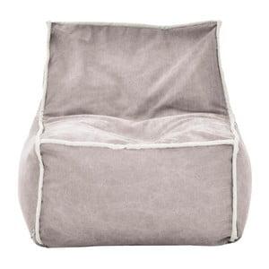 Světle šedý modulový sedací vak s krémovým lemem Poufomania Funky
