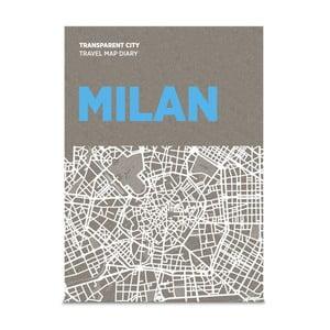 Mapa na popisky Palomar Transparent City Miláno