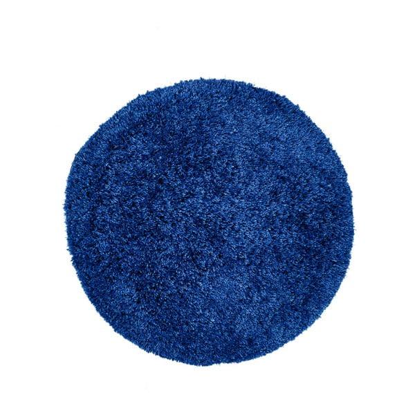Tmavě modrý ručně vyráběný koberec Obsession My Touch Me Azur, ⌀60 cm