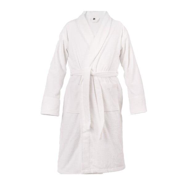 Biely unisex župan z čistej bavlny Casa Di Bassi, XL / XXL