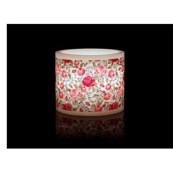 Kruhový svícen na čajovou svíčku Red Rose