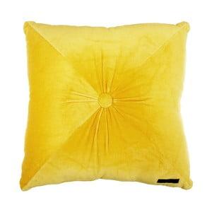 Žlutý polštář Ragged Rose Fiona Velvet