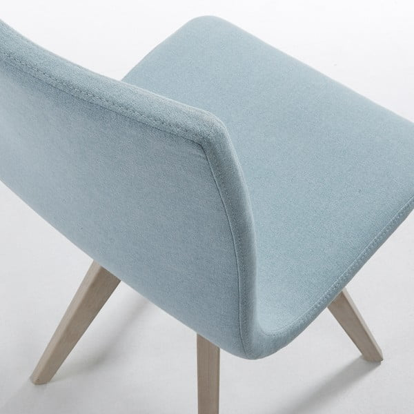 Světle modrá jídelní židle La Forma Una