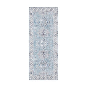 Covor Nouristan Gratia, 80 x 200 cm, albastru deschis