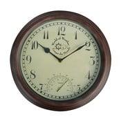 Venkovní nástěnné hodiny s teploměrem EsschertDesign Time