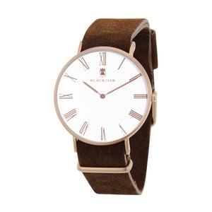 Tmavě hnědé pánské hodinky Black Oak Elegant