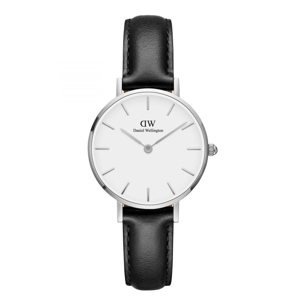9e531e939 Dámské hodinky s koženým řemínkem a bílým ciferníkem s detaily stříbrné  barvy Daniel Wellington Petite Sheffield