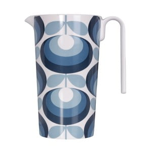 Carafă pentru limonadă Orla Kiely Flower, albastru - alb