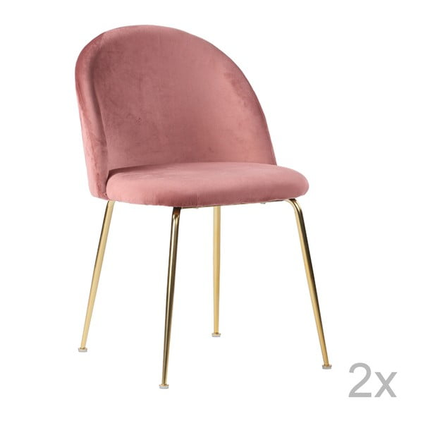 Zestaw 2 różowych krzeseł do jadalni House Nordic Geneve