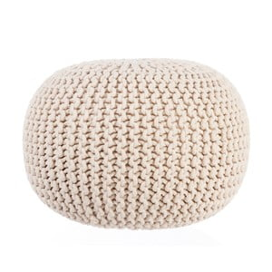 Puf Knitted Beige, 35x50 cm