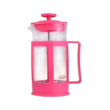 French press pentru cafea și ceai Bambum Magic, 350 ml, roz/roșu de la Bambum