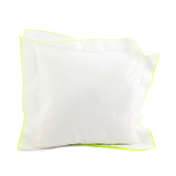 Povlak na polštář Basic Fluor yellow, 40 x 40 cm