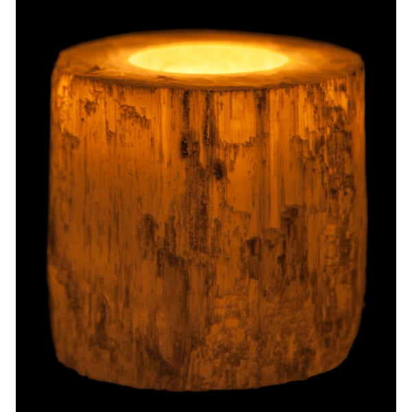 Svícen ze selenitu Cylinder, 7x15 cm