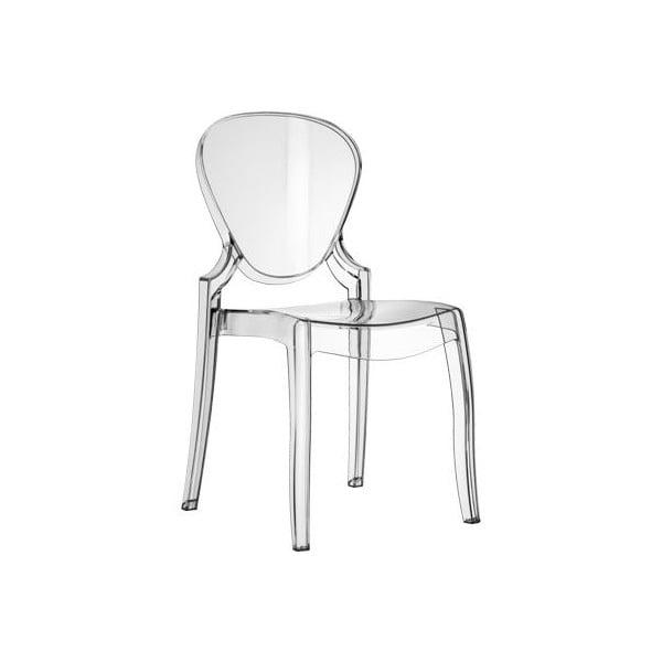 Židle Queen 650, průhledná