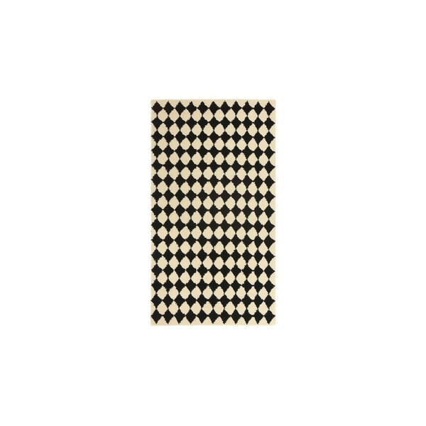 Vlněný koberec Oslo no.3, 140x200 cm, černý