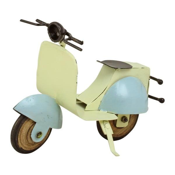 Kovová dekorace ve tvaru modré motorky Strömshaga