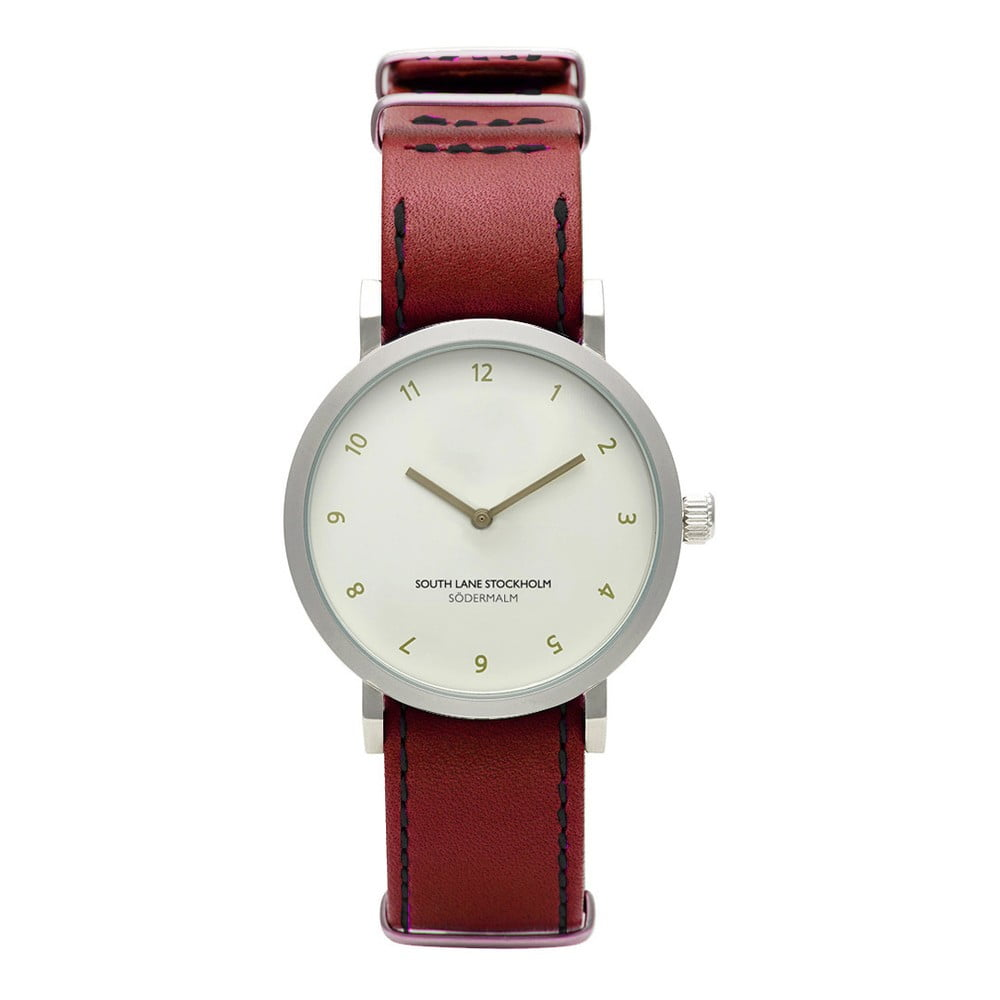 Unisex hodinky s červeným řemínkem South Lane Stockholm Sodermalm Classy