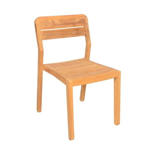 Sada 2 zahradních židlí z teakového dřeva Ezeis Sun