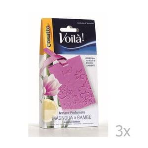 Set 3 cartonașe parfumate  Cosatto Perfume, aromă de magnolie și bambus