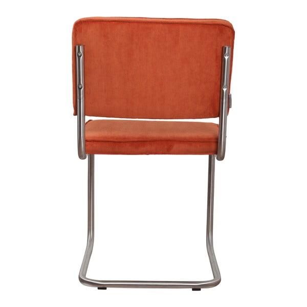 Sada 2 oranžových židlí Zuiver Ridge Brushed Rib